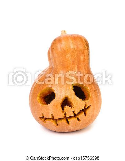 Pumpkin halloween jack o'lantern. - csp15756398