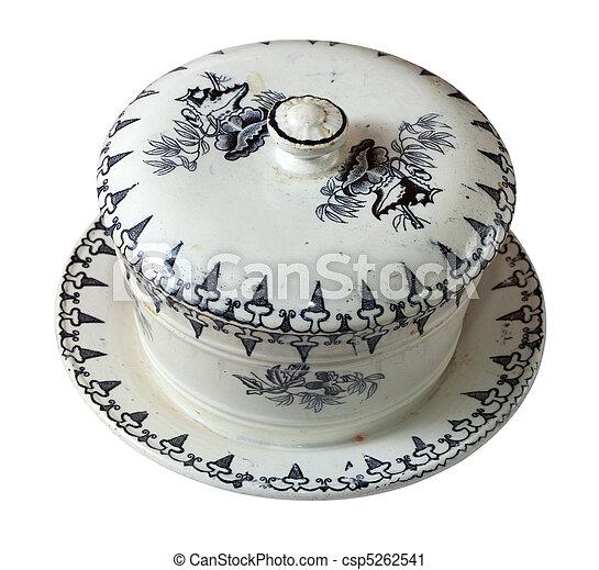 Old 19st century ceramic dish - csp5262541