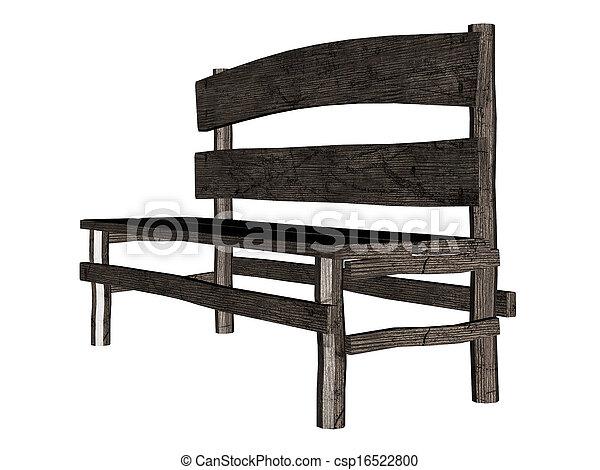 Old 3d Bench   Csp16522800