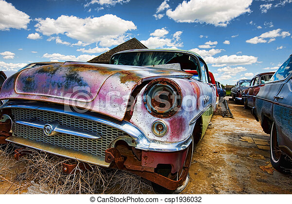Old abandoned cars - csp1936032