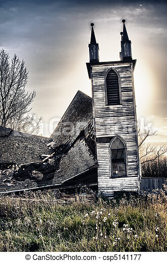Old Abandoned Church - csp5141177