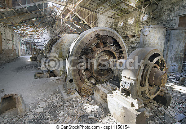 Old Abandoned Electric Powerhouse Station - csp11150154