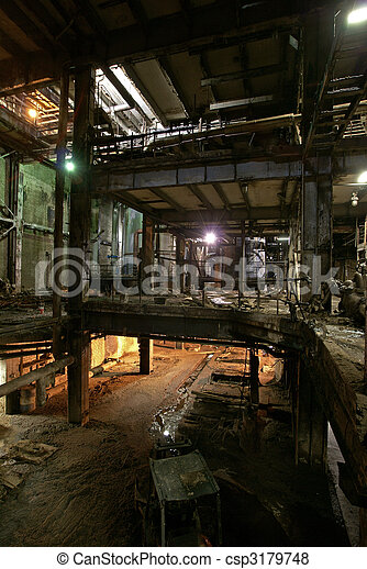 Old abandoned factory - csp3179748
