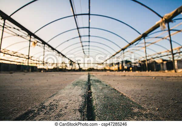 Old abandoned greenhouse - csp47285246