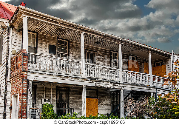 Old Abandoned House with Peeling Paint - csp61695166