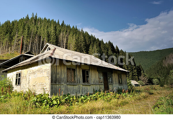 Old abandoned houses in the forests - csp11363980