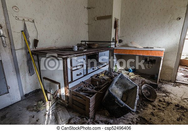 Old Abandoned Kitchen In A House