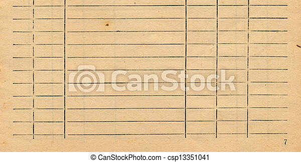 Old Accountancy Book Page Paper Background