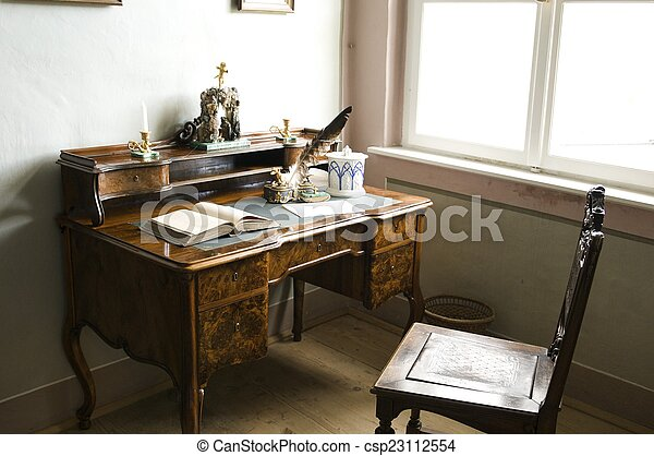Old Accountant Table   Csp23112554