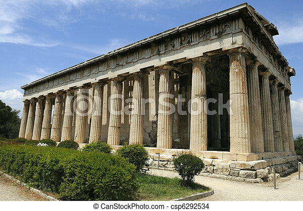 Old agora in Athens - csp6292534