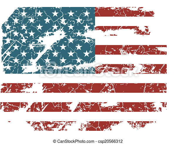 old American flag - csp20566312