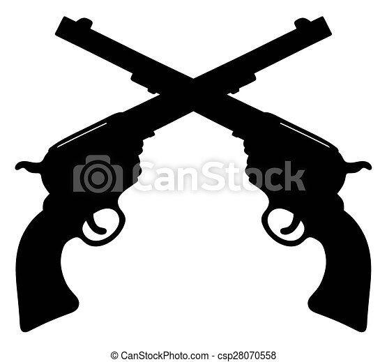 old american handguns hand drawing of two classic wild west rh canstockphoto com old west clip art free old west town clipart