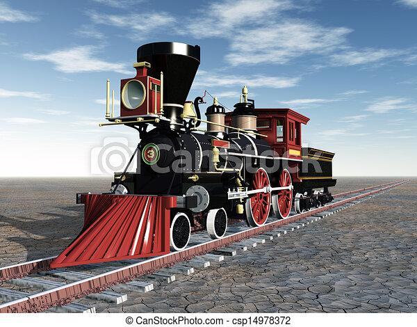 Old American Steam Locomotive - csp14978372