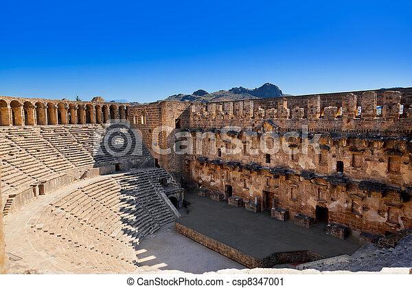 Old amphitheater Aspendos in Antalya, Turkey - csp8347001