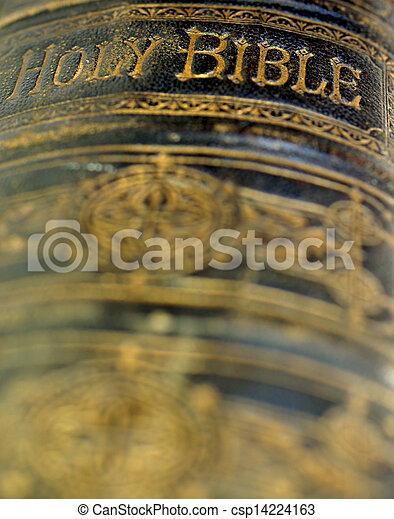 Old ancient bible - csp14224163