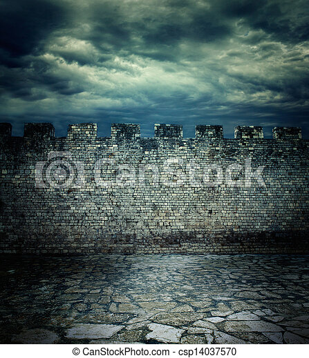 Old ancient wall - csp14037570