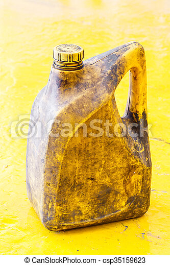 Old and dirty oil gallon - csp35159623