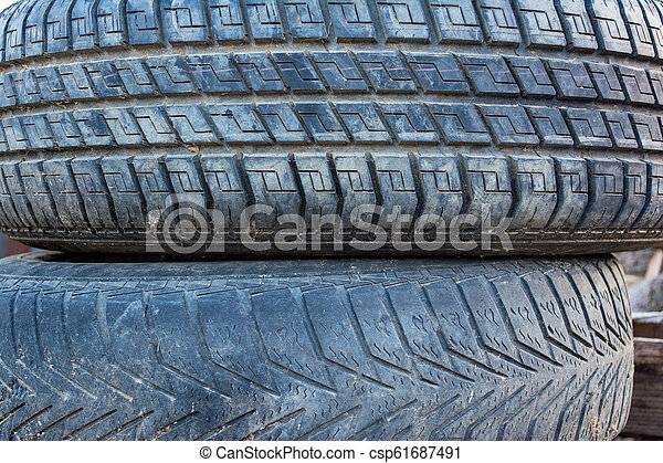 Used Car Tires >> Old And Dirty Used Car Tires Texture Close Up Stacks Of Old Tires