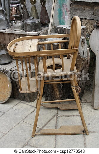 old antique baby chair - csp12778543