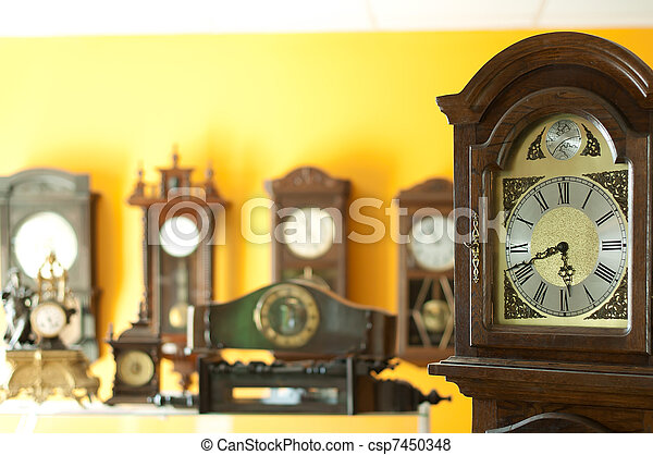 Old antique clocks - csp7450348