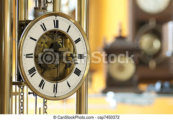 Old antique clocks - csp7450372