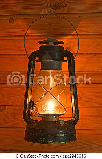 old antique oil lantern  - csp2948616