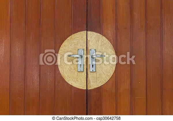 old antique wood door. - csp30642758