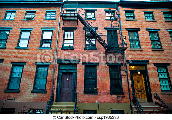brick apartment building. Old Apartment Buildings  Csp1905336 Brick In A Stock