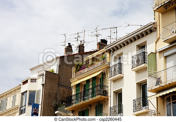 Old Apartments and TV Antennas