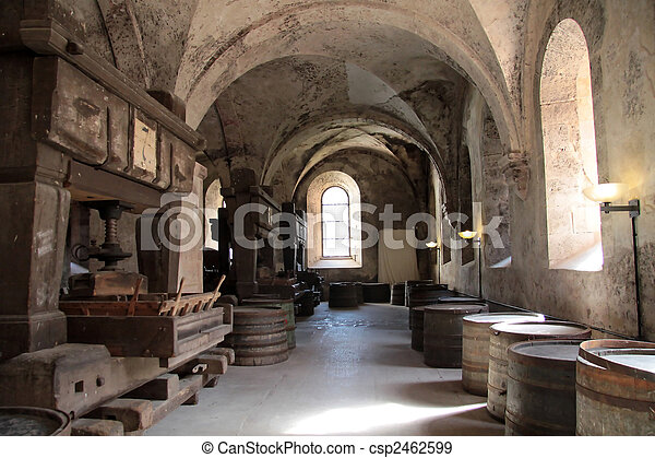 Old arches on vineyard - csp2462599