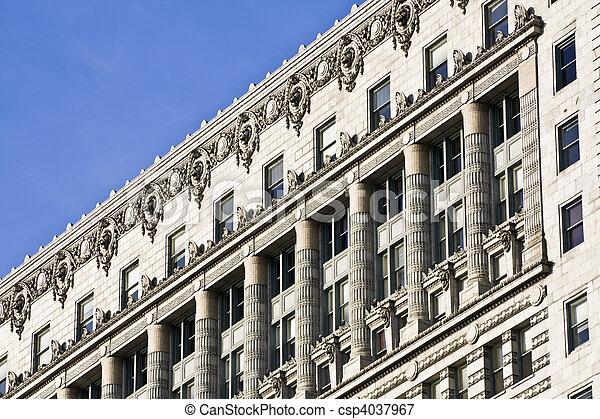 Old architecture - South Michigan Avenue  - csp4037967
