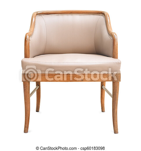 Old Armchair Made Of Wood And Leather   Csp60183098