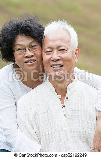 Images - Old asian couple