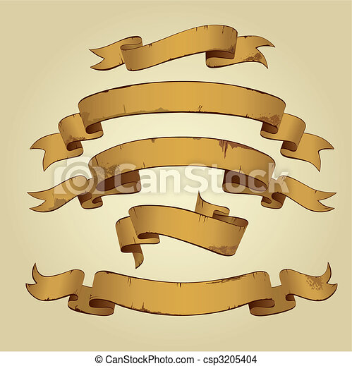Old Banners (vector) - csp3205404