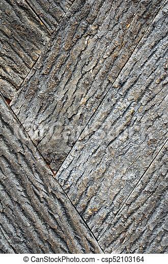 Old bark wood texture. - csp52103164