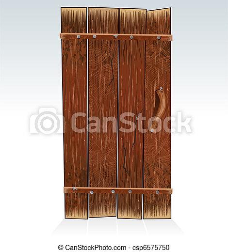 Old Barn Door - csp6575750