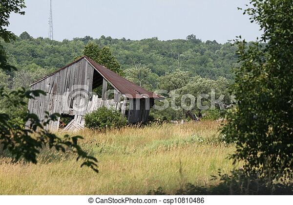 Old Barn in Field - csp10810486