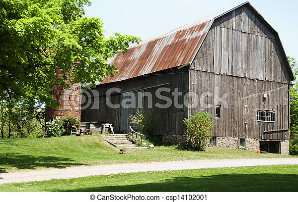 old barn in the country - csp14102001
