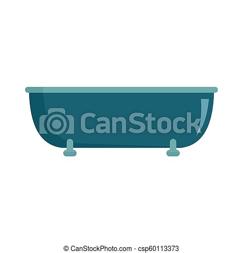 Old bathtube icon, flat style - csp60113373