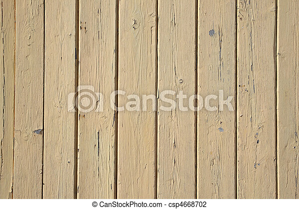 Old beige painted wooden fence close up. - csp4668702