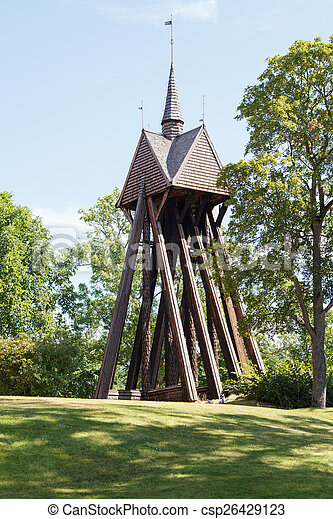 Old bell tower - csp26429123