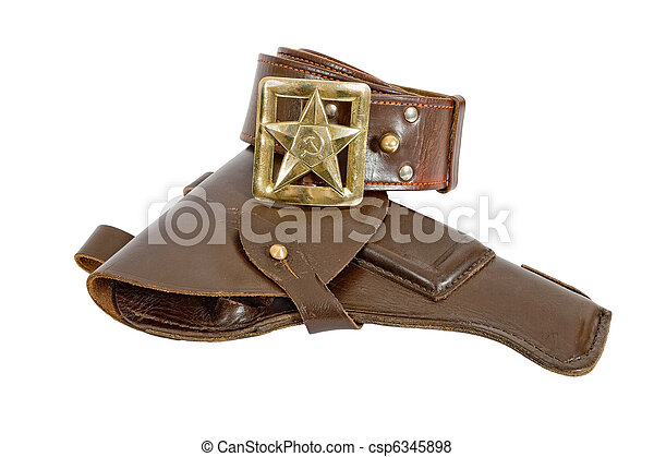 Old belt and holster - csp6345898