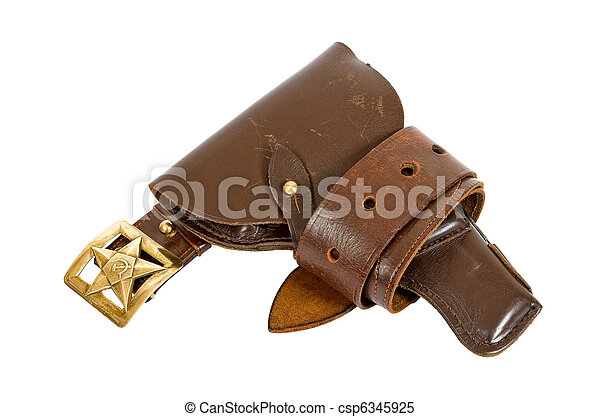 Old belt and holster - csp6345925