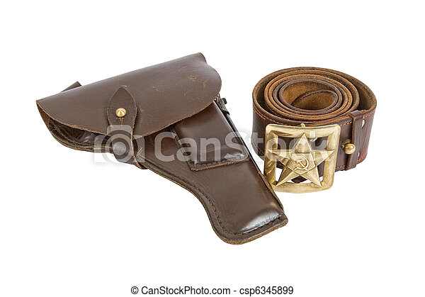 Old belt and holster - csp6345899