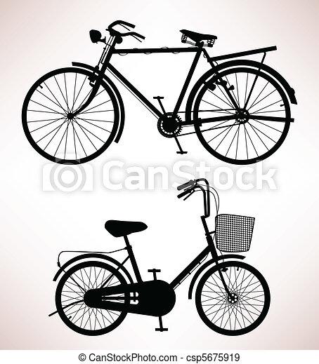 Old Bicycle Detail - csp5675919