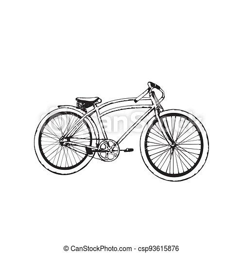 Old bicycle emblem - csp93615876