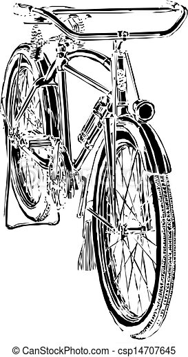 Old bicycle - csp14707645