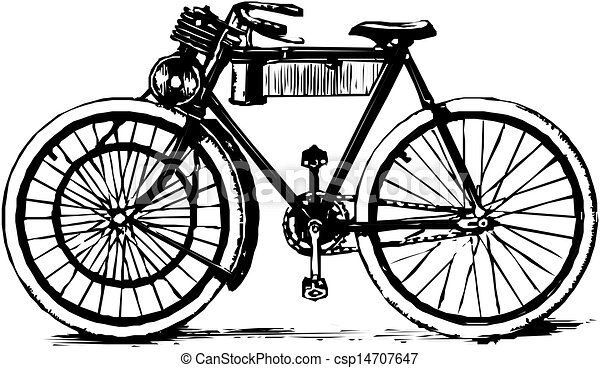 Old bicycle - csp14707647