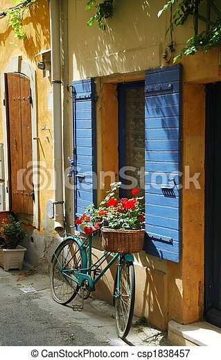 Old Bicycle in Front of a Window - csp1838457