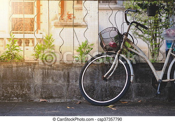 Old bicycle - csp37357790